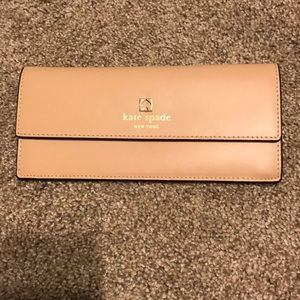 Kate spade light tan thin wallet